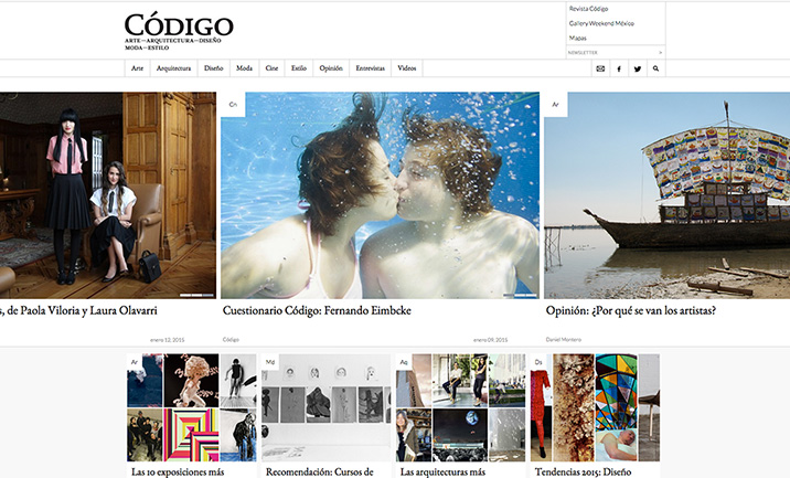 Revista Código website