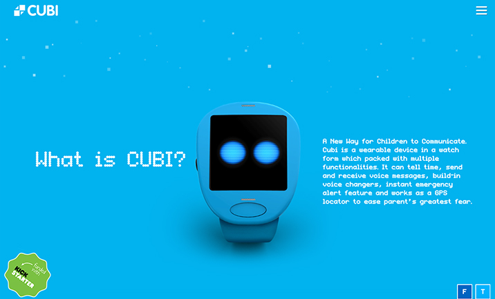 CUBI-Communicator for Smart Kids website