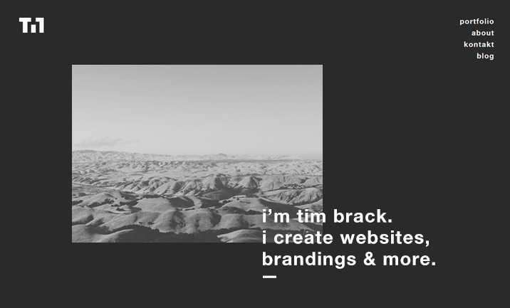 Portfolio of Tim Brack website