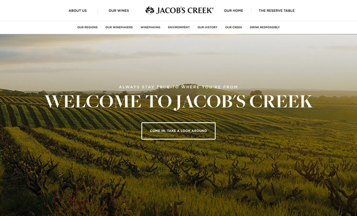Jacob's Creek website