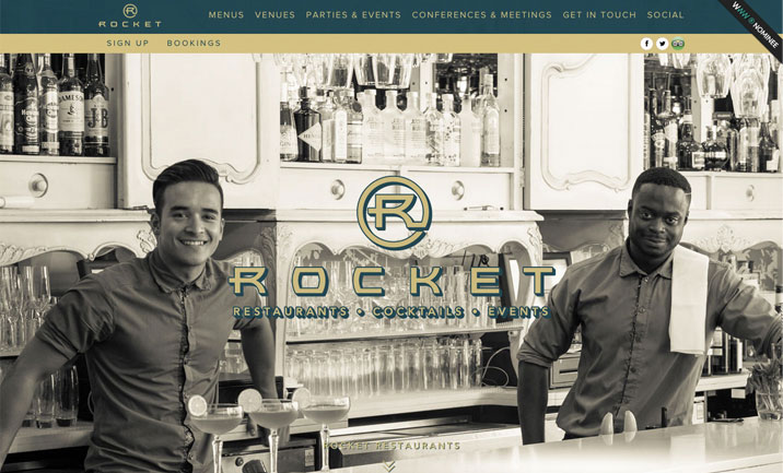 Rocket Restaurants website
