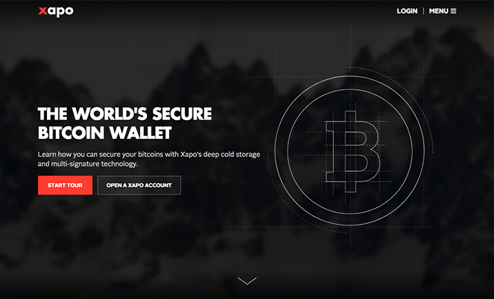 Xapo - Bitcoin Wallet website