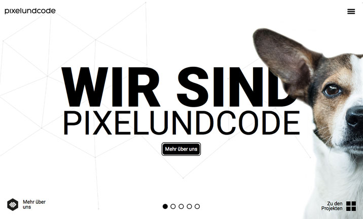 Pixelundcode website