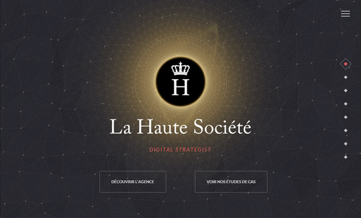 LA HAUTE SOCIETE website