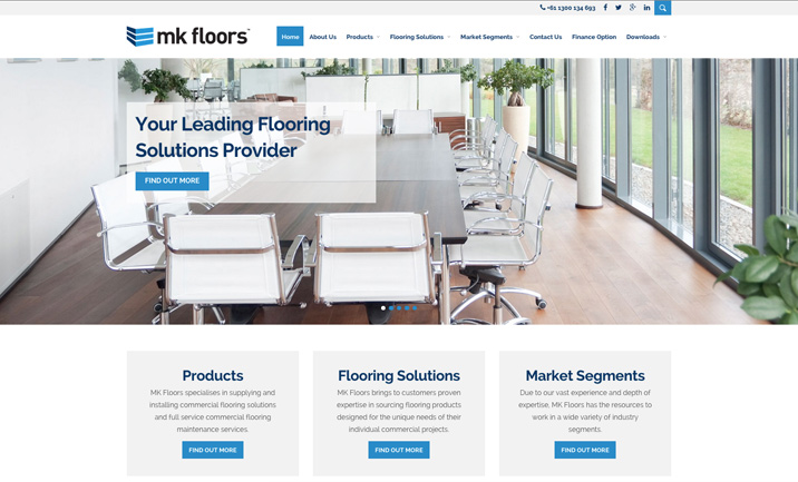 MK Floors website