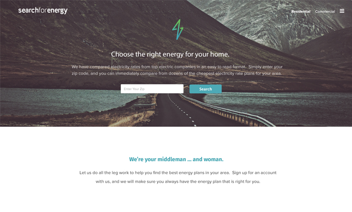 Search For Energy website