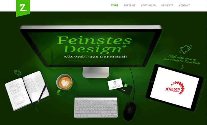 ZAHNKE. Feinstes Design. website