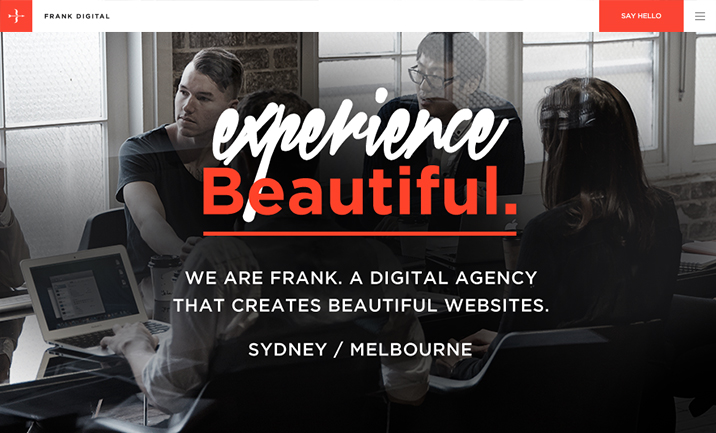 Frank Digital website