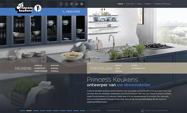 Princess Keukens website