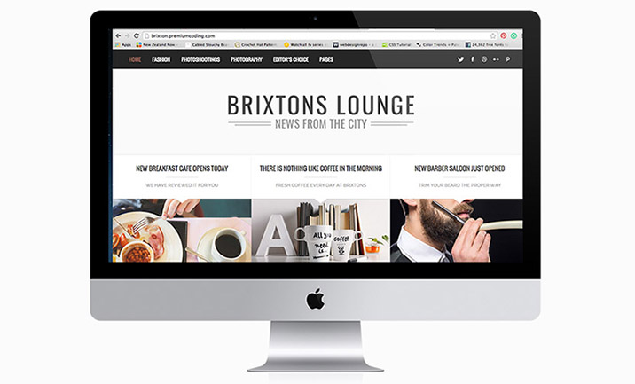 Brixton - Minimal Wordpress Blog website
