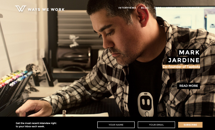 Ways We Work website