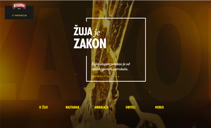 Ozujsko Beer website