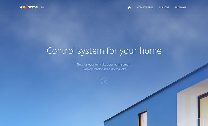 Taphome | Smarthome 2.0 website