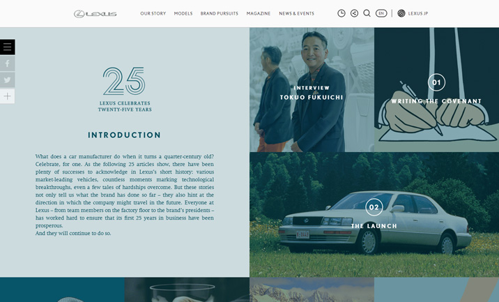 Lexus at 25 | BEYOND BY LEXUS Magazine website