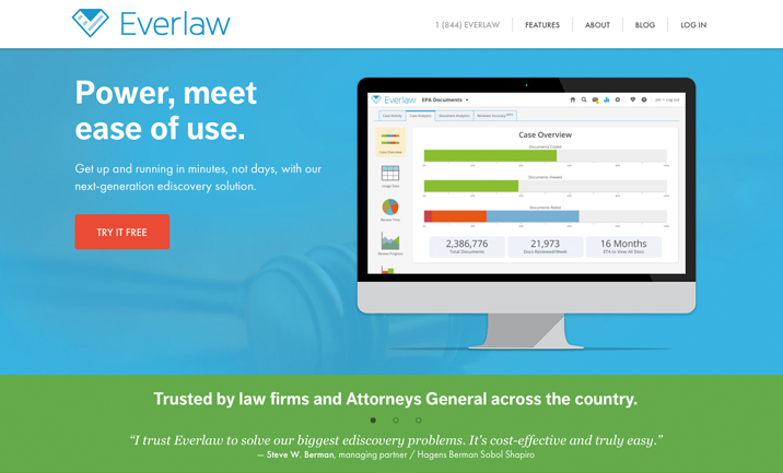 Everlaw website