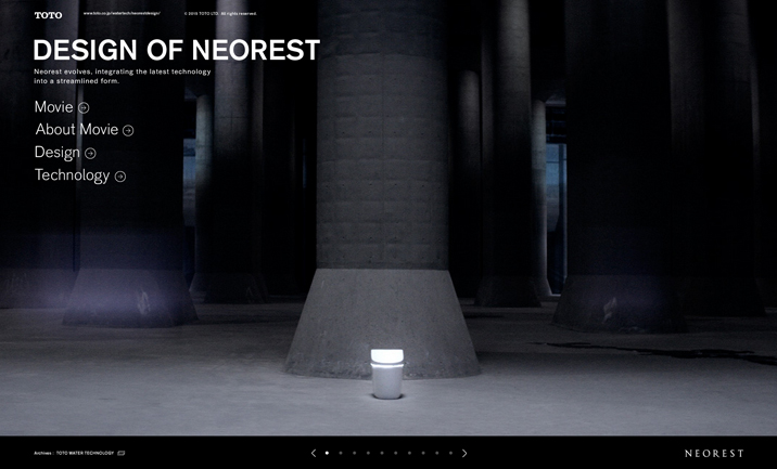 DESIGN OF NEOREST website