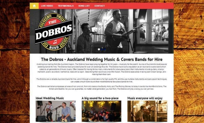 Cover Bands for Hire in Auckland website