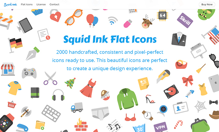 Squid Ink Flat Icons website