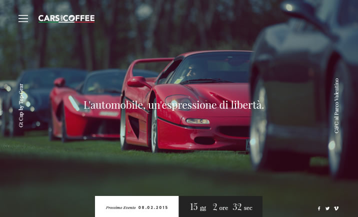 Cars and Coffee website