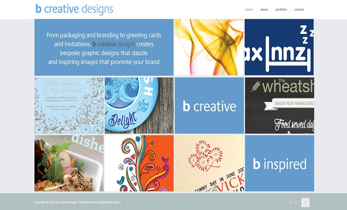 B Creative Designs website