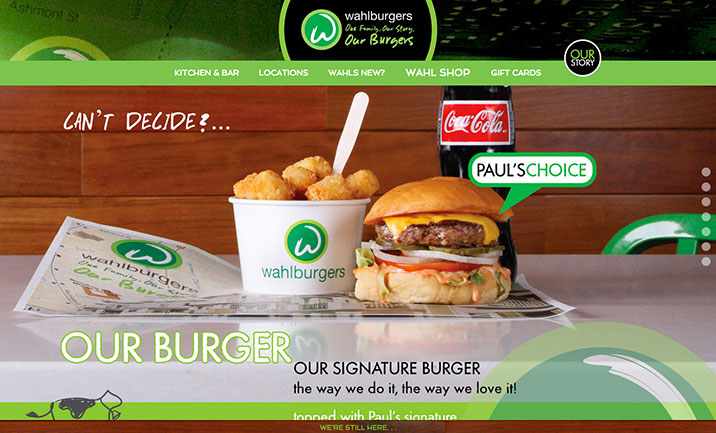 Wahlburgers Corporate website