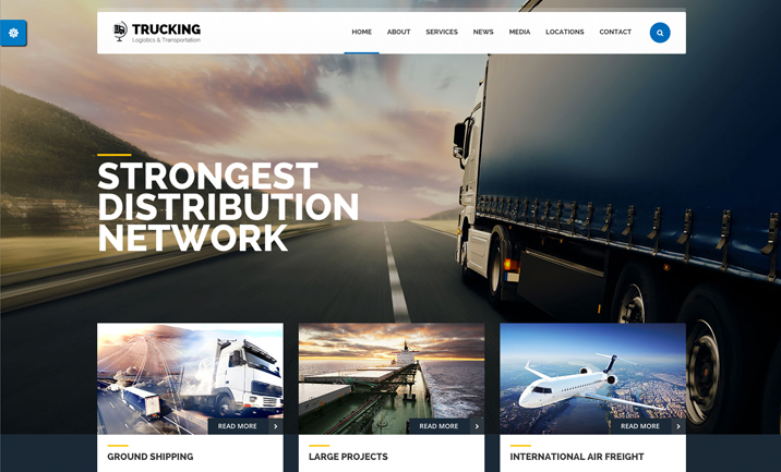 Trucking Transportation website