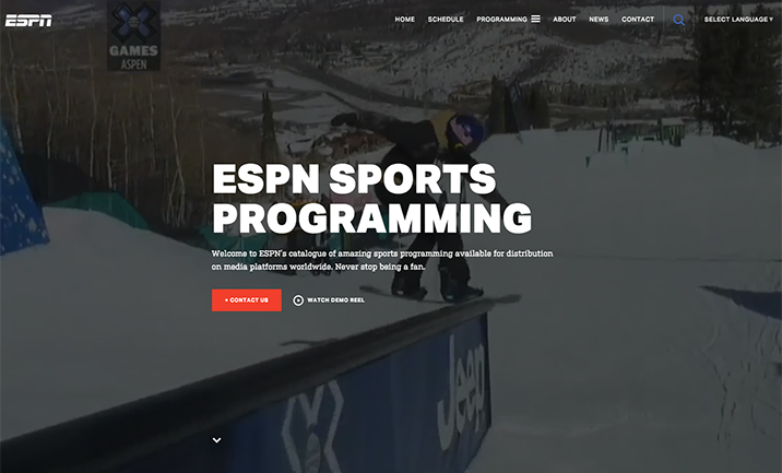 ESPN International Syndication website