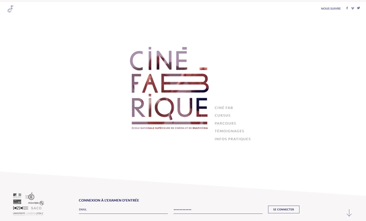 La Ciné Fabrique website