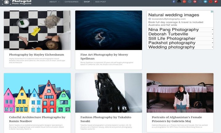 Photogrist Photo Magazine website