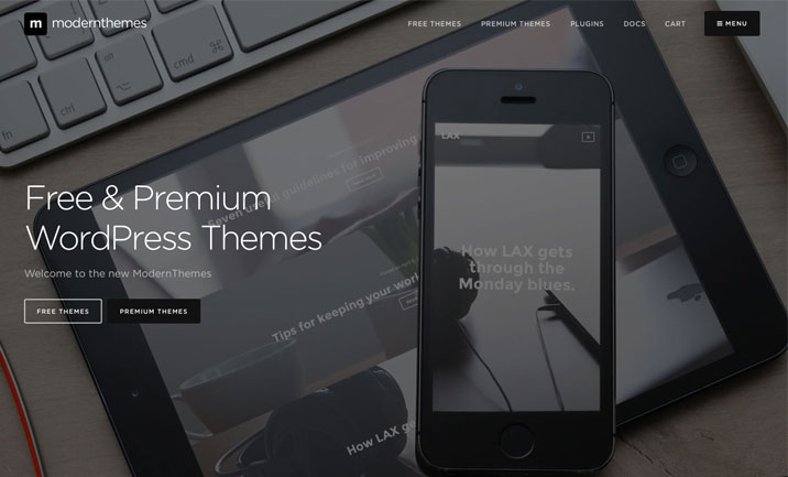 Modern Themes website