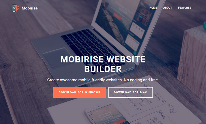 Mobirise Mobile Website Builder website