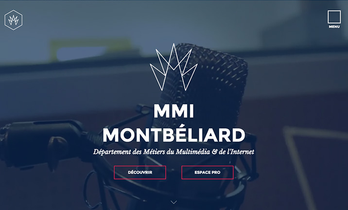 Département MMI Montbéliard website