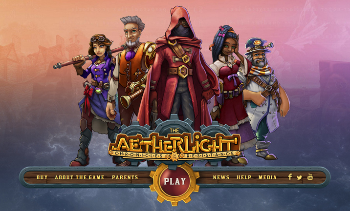 The Aetherlight website