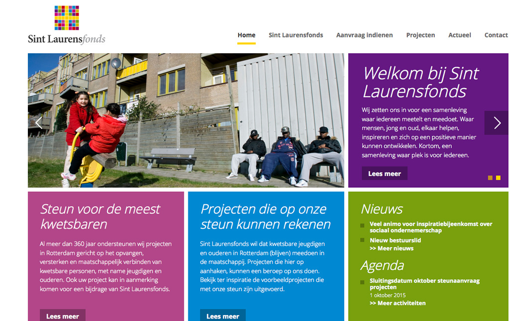 Sint Laurensfonds website
