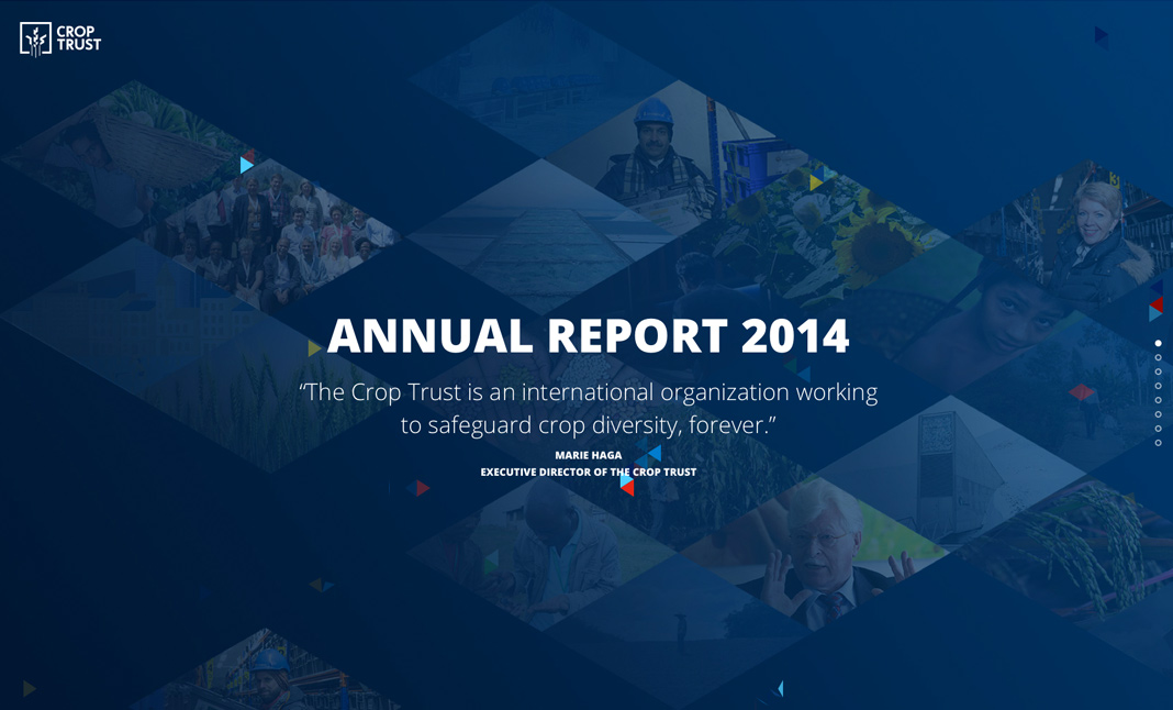 Crop Trust - Annual Report 2014 screenshot 2