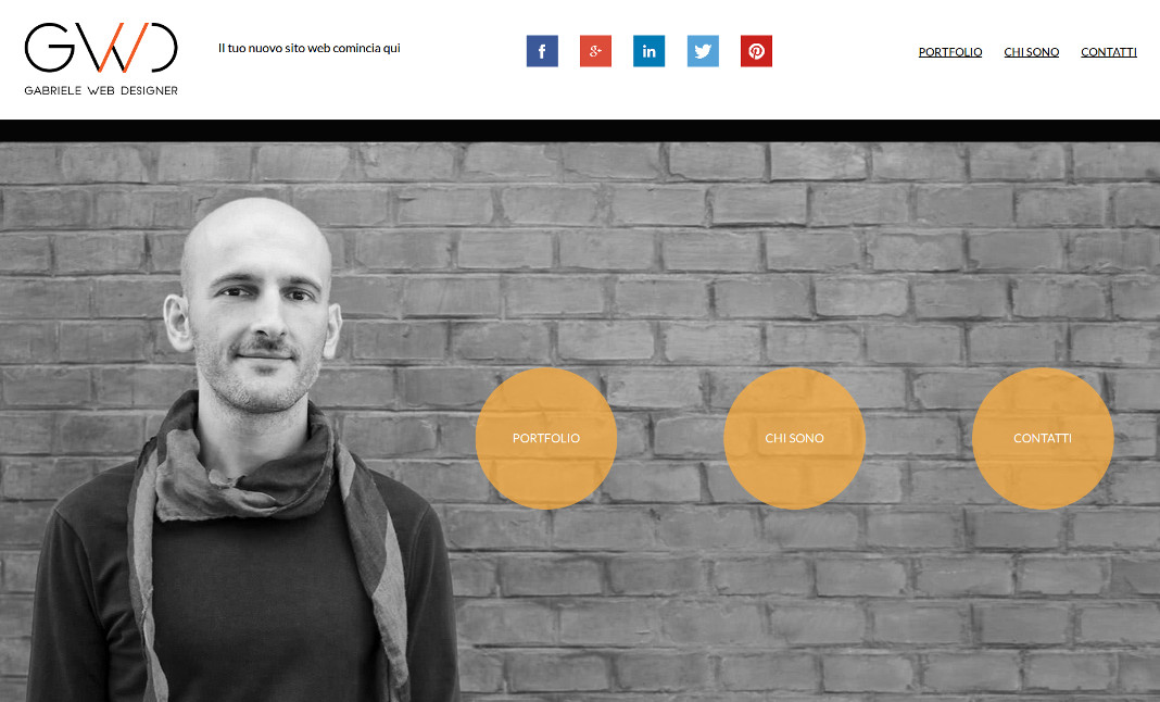 Gabriele Web Designer website