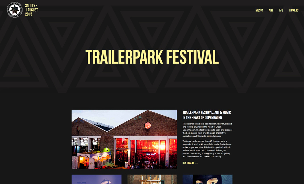 Trailerpark Festival website