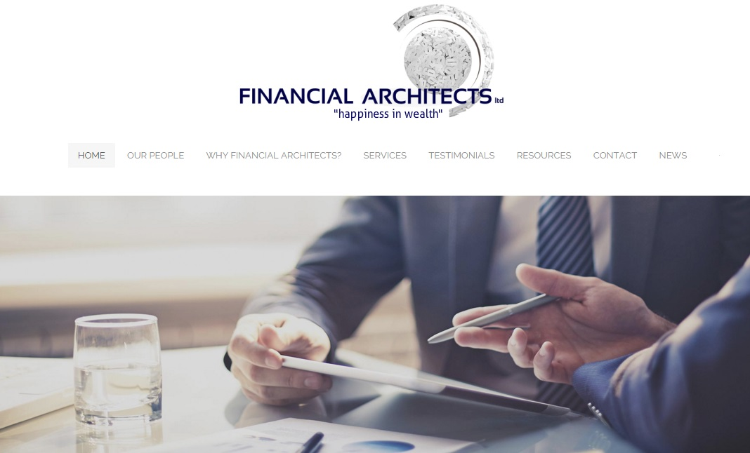 Financial Architects New Zealand website