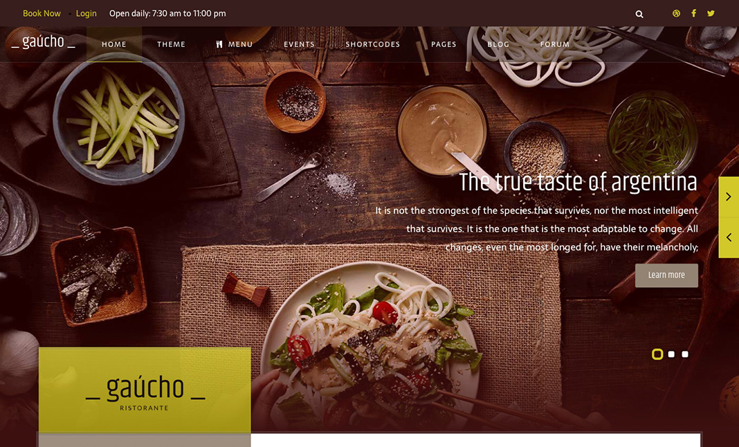 Gaucho Restaurant website