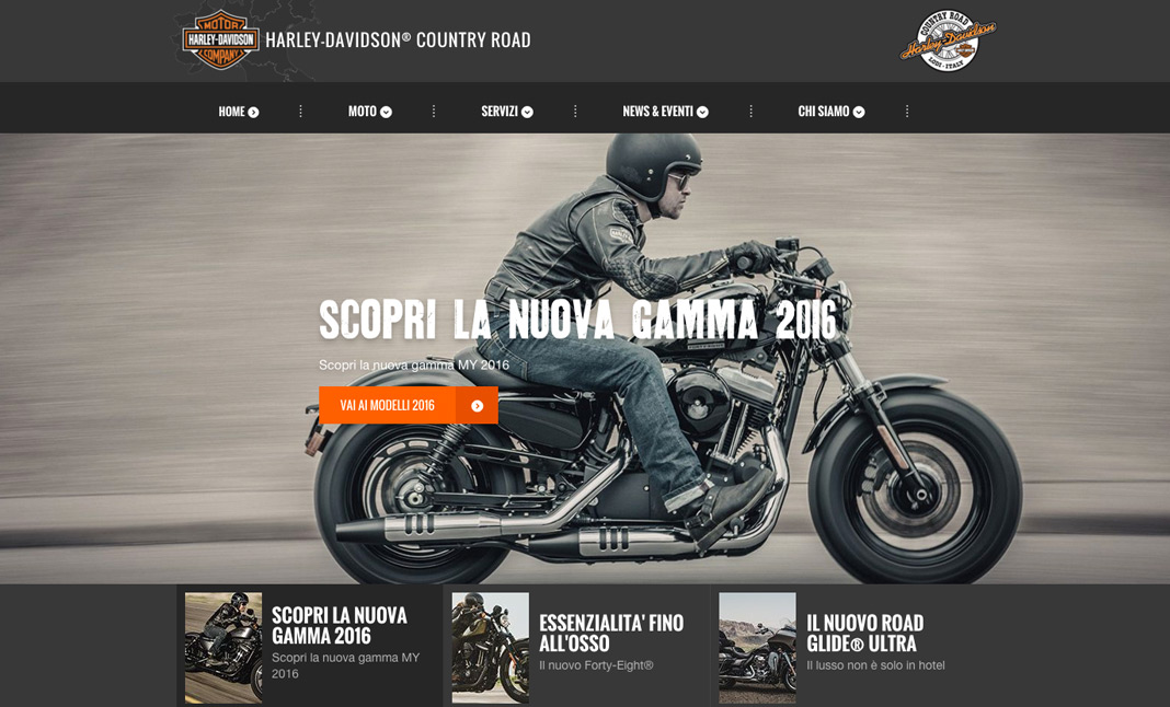 Harley-Davidson® Country Road website