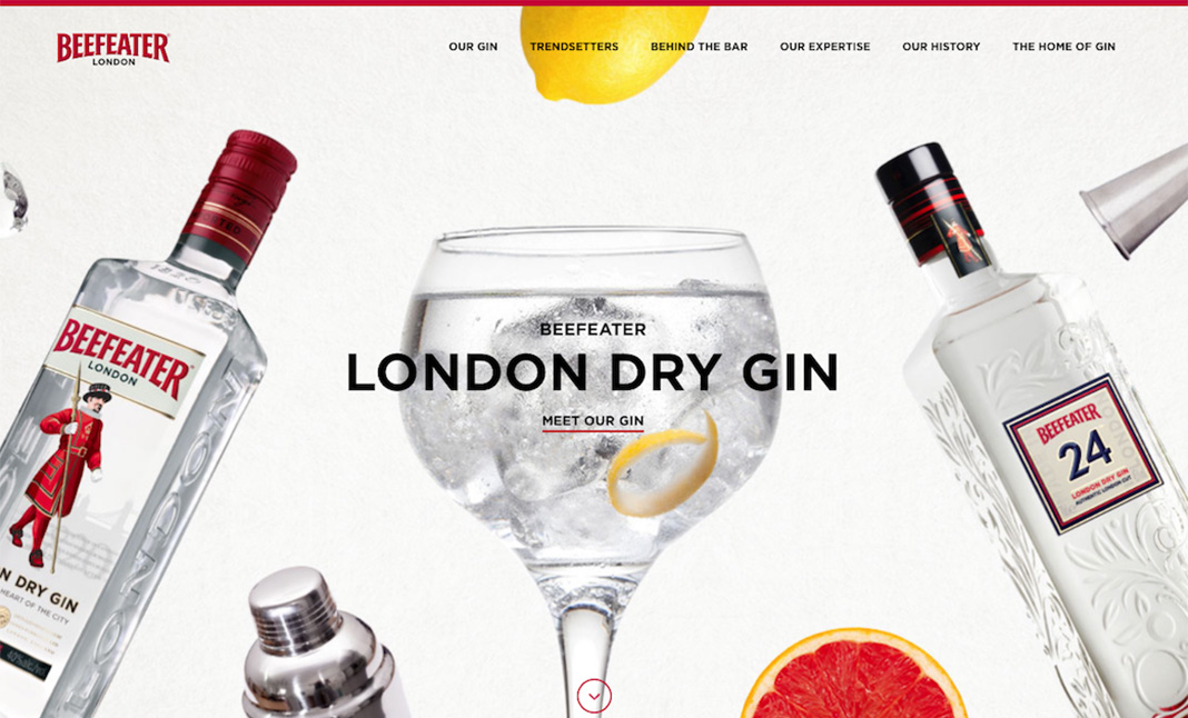 Beefeater Gin website