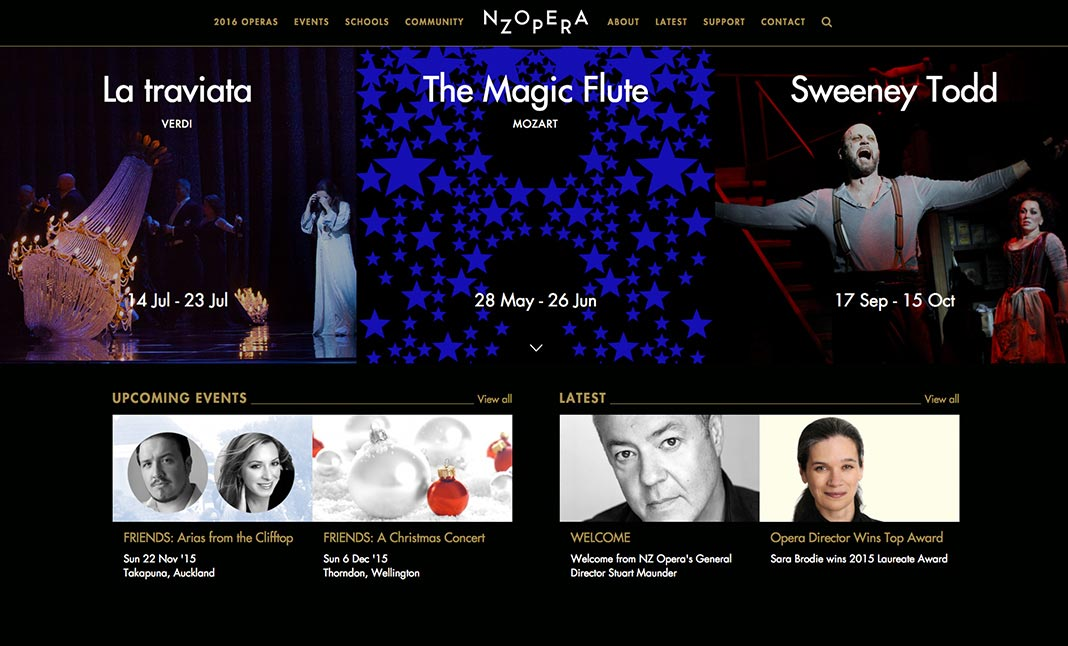 New Zealand Opera website