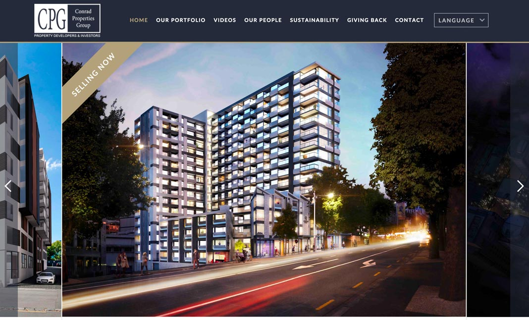 Conrad Properties website