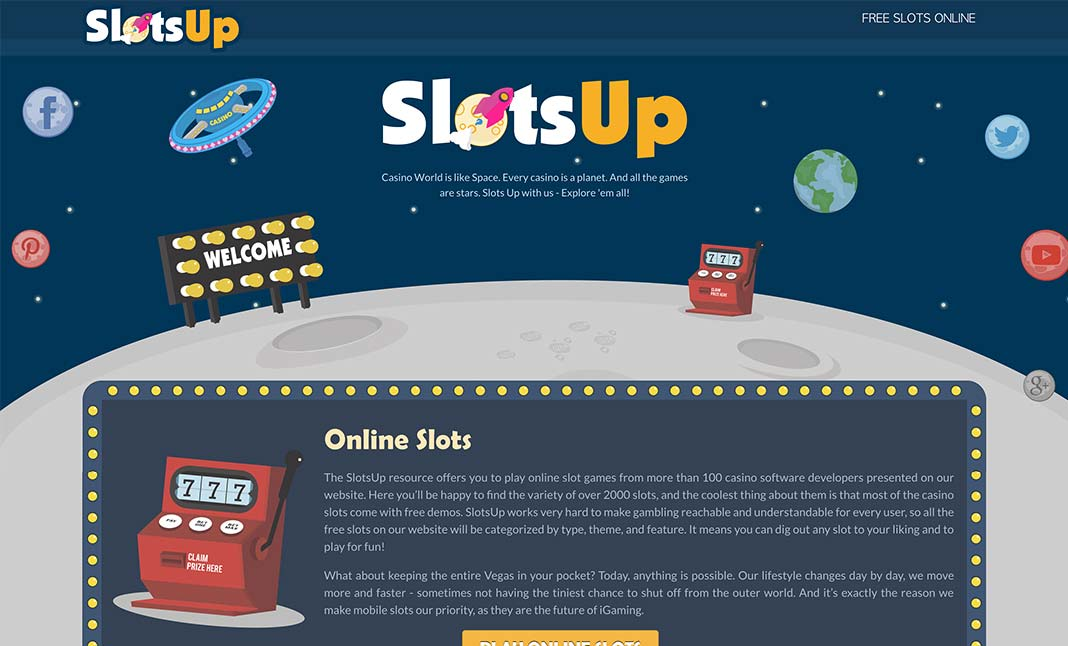 SlotsUp - Casino Slots Universe website