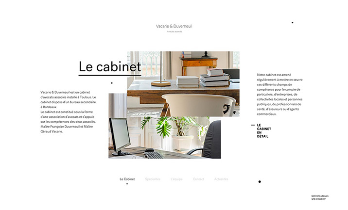 Vacarie & Duverneuil website