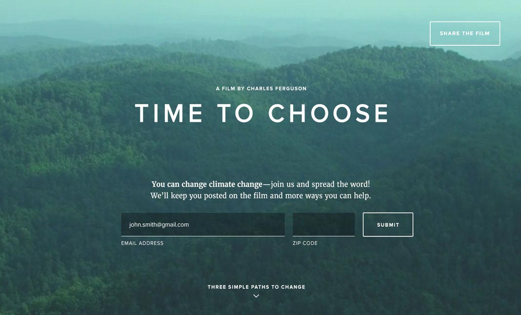 Time to Choose website