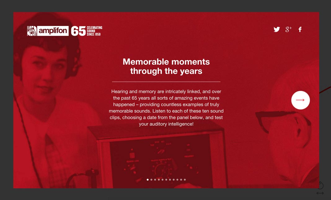 65 Years of Sound website