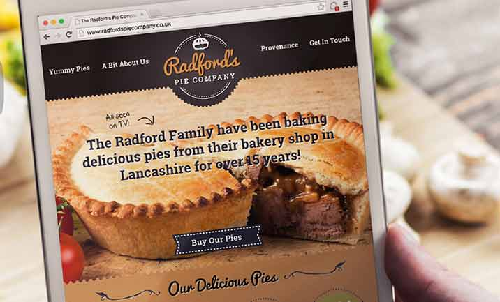 Radford's Pie Company website