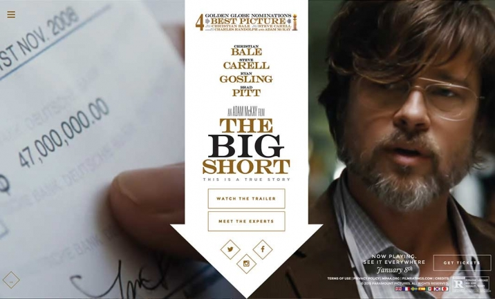 The Big Short Official Website website