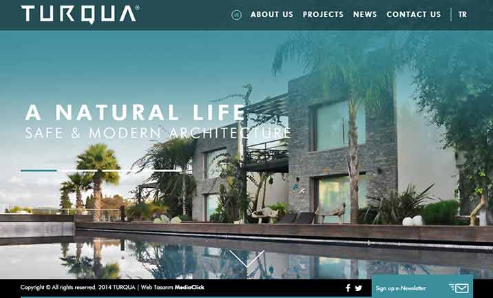 Turqua Construction website